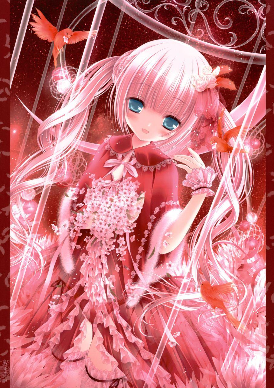 萌图动漫美少女! 紫晶草