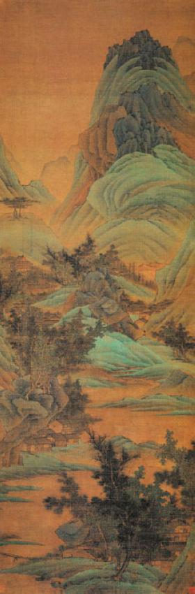 128 、清代龚贤《溪山烟树图》