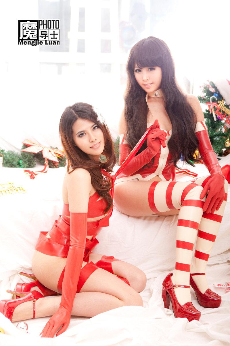 被mm绑捆绑美女诱惑cosplay圣诞美女男性捆绑