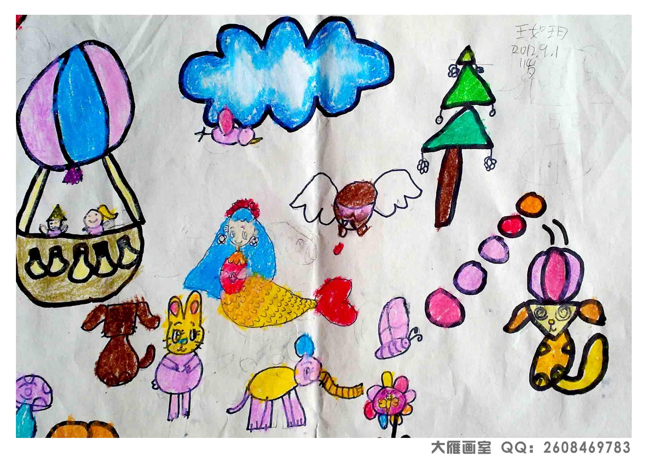 儿童过年简笔画