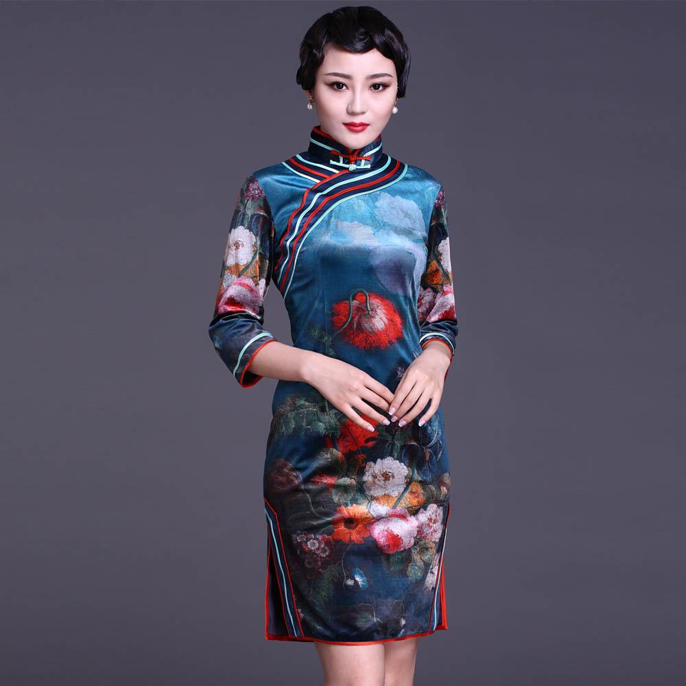 中国旗袍美女 2张