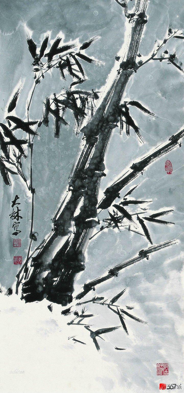 张大林国画作品图片