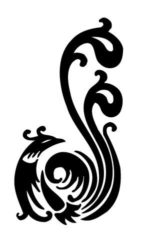 古老的汉族传统装饰纹样之一.凤纹在青铜器中是最为美丽的纹饰.图片