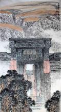 表现晋商文化的国画作品—作者谭翃晶