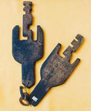 藏族地区喇嘛庙大门所用的木制大钥匙