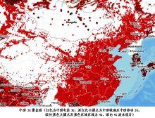 中国3G网覆盖图(美国统计)