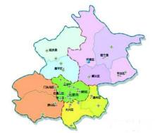 北京20个PM2.5监测站点分部图