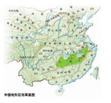 中国主要丘陵分布图_考点5描述中国地形、气候的主要特征及主要河