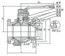 不锈钢球阀结构图