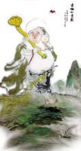 喜佛弥勒佛-布袋和尚国画一组(王山甲画)
