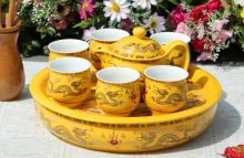 双龙戏珠陶瓷茶具