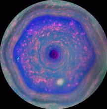 卡西尼号拍土星独特六边形气候系统