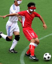 中国男子盲人足球队亚残运瞬间