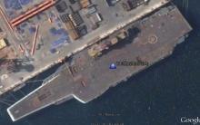 瓦良格航母卫星图