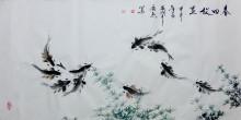 王广然创作的会意水墨画选集