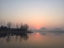 北湖卫星湖晚霞