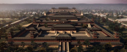 Han Weiyang Palace site restoration map