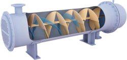 螺旋折流板换热器结构示意图
