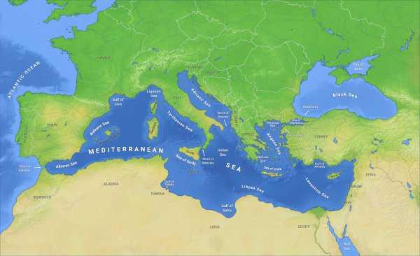 地中海以亚平宁半岛,西西里岛和突尼斯之间的突尼斯海峡为界,分东,西图片