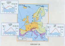 欧洲西部气候分布图图片