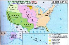 独立战争后美国地图