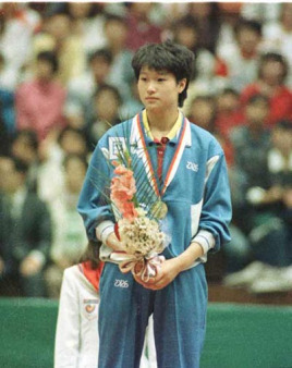 1988年汉城奥运会,作为中国队第三单打主力的她图片