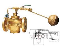 黄铜遥控浮球阀图片
