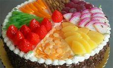 巴黎岛水果或卡通蛋糕