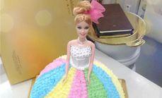 静蜜萱芭比娃娃蛋糕