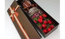520鲜花11朵玫瑰礼盒