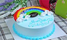 慕蓝卡彩虹蛋糕8寸