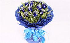 爱琴海11支蓝色妖姬花束