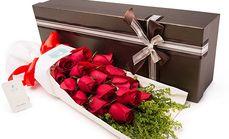 花千束19枝玫瑰花盒