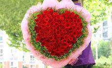 栀子花坊99支玫瑰花束