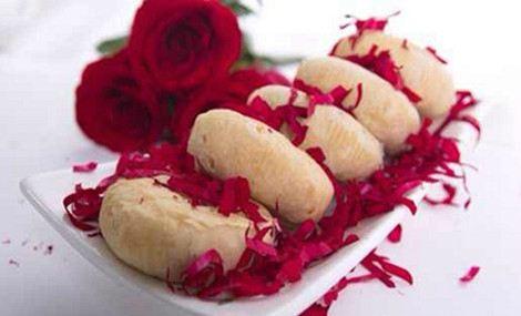 七彩玫瑰鲜花饼 - 大图