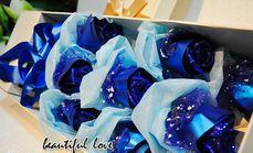 美爱花艺蓝色妖姬玫瑰