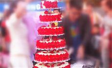 多乐美甜婚庆6层蛋糕
