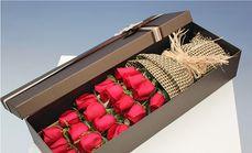 千寻鲜花19朵玫瑰咖色礼盒