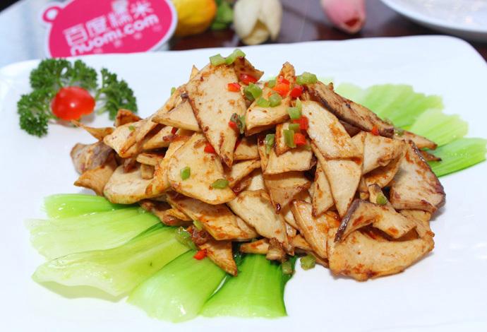 米饭:   三鲜豆腐汤:   煎焗杏鲍菇:   新派宫保鸡丁:   酸汤萝卜鱼: