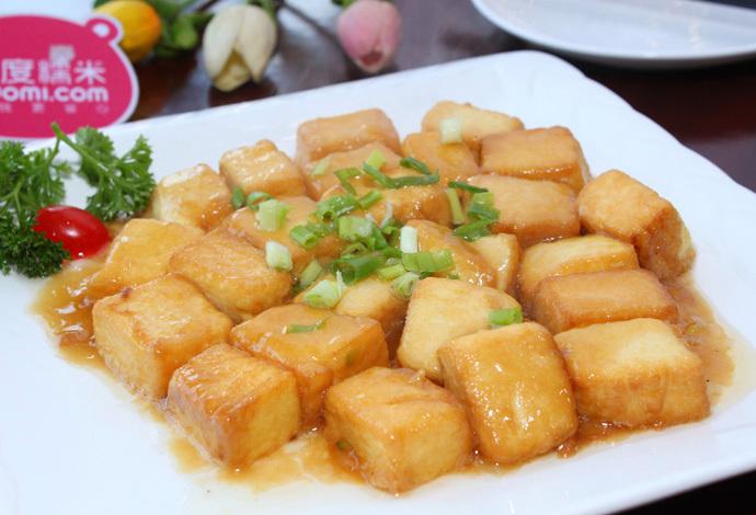 米饭:   三鲜豆腐汤:   总督豆腐:   煎焗杏鲍菇:   新派宫保鸡丁: