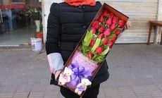 千百度19朵玫瑰百合礼盒