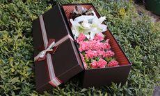千百度康乃馨百合鲜花礼盒