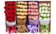 叶上花19朵盒装玫瑰4选1