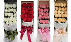千百度19朵玫瑰花礼盒