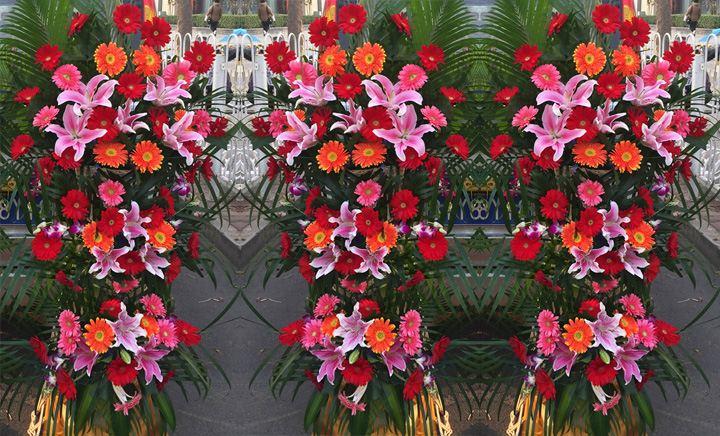 叶上花鲜花 - 大图