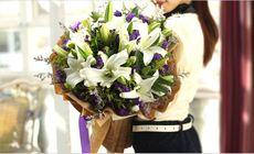 千寻鲜花19朵蓝色妖姬玫瑰