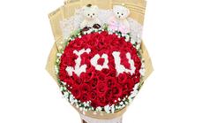 春蕾鲜花52支玫瑰花束