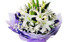 Idu鲜花22朵百合花束