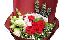 绿七洲花卉16支混搭花束