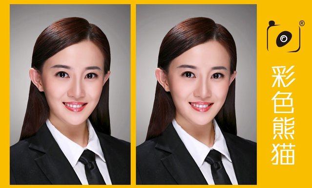 彩色熊猫专业证件照(对外经贸店)
